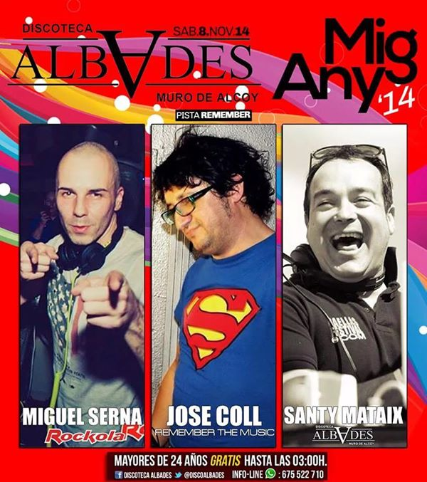 Santy Mataix, Miguel Serna, Jose Coll