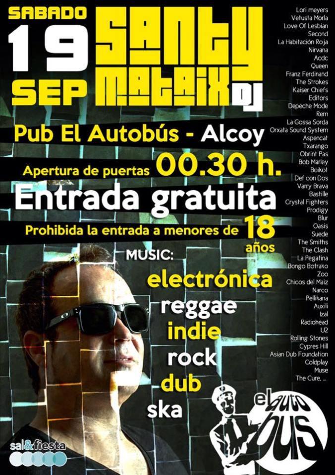 Santy Mataix PUB Autobus Alcoy indie
