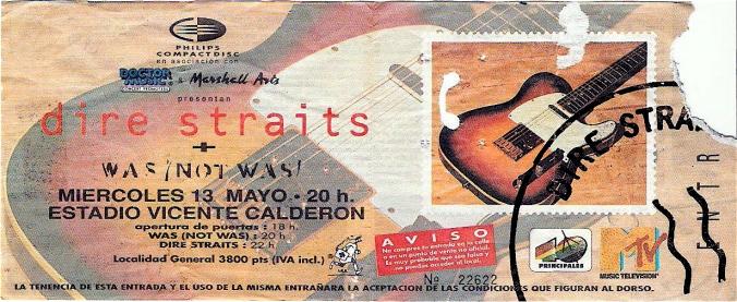 Dire Straits en concierto, Madrid Calderón